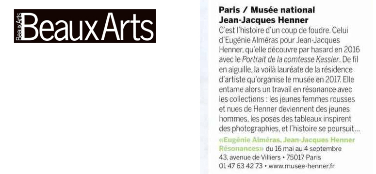 Beaux-Arts Magazine, par Stéphanie Pioda, Mai 2018.