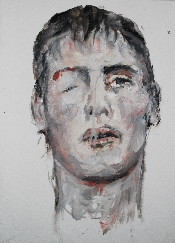 DUEL, 2019, huile sur toile, 33 x 24 cm