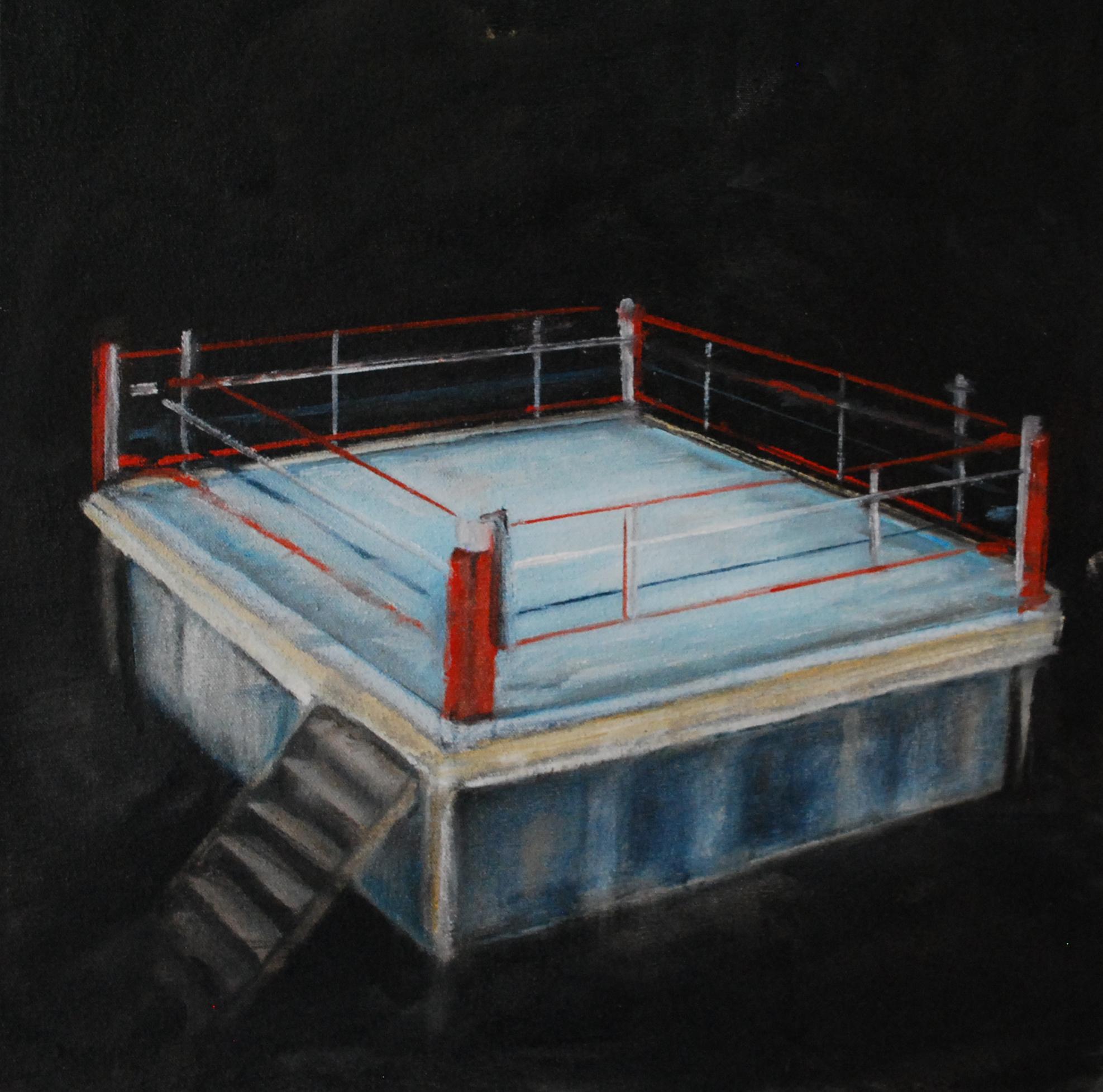 RING, 2019, huile sur toile, 25 x 25 cm