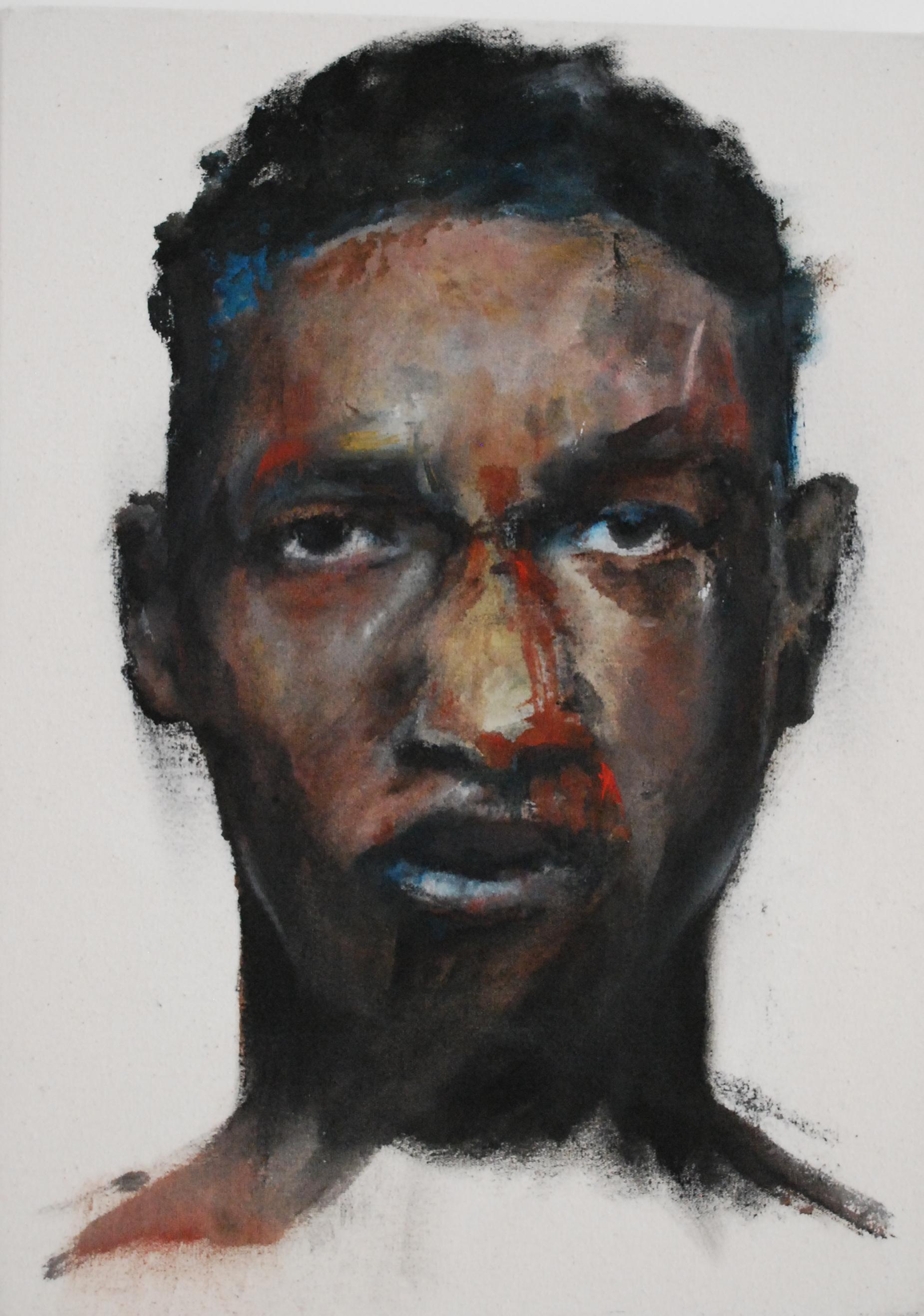FIGHT, 2019, huile sur toile, 33 x 24 cm