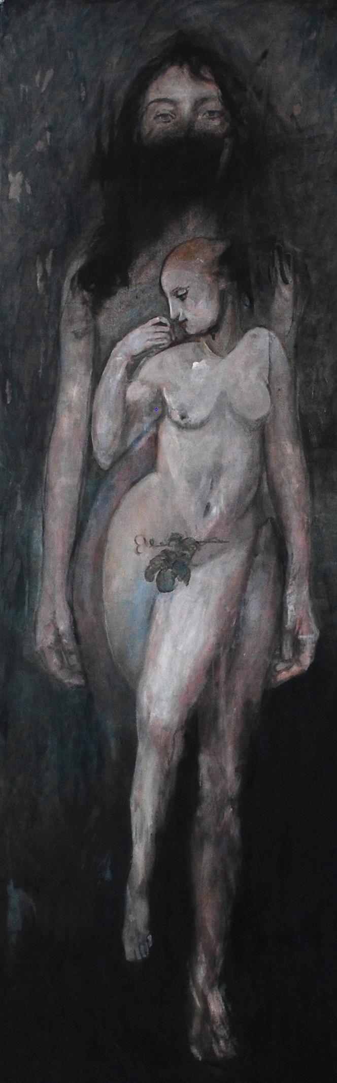 ©EAlméras_Woman_2020_acrylique sur toile_150x50cm